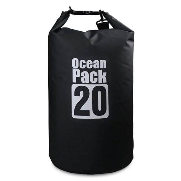 Bolsa impermeable negra ocean pack vista completa