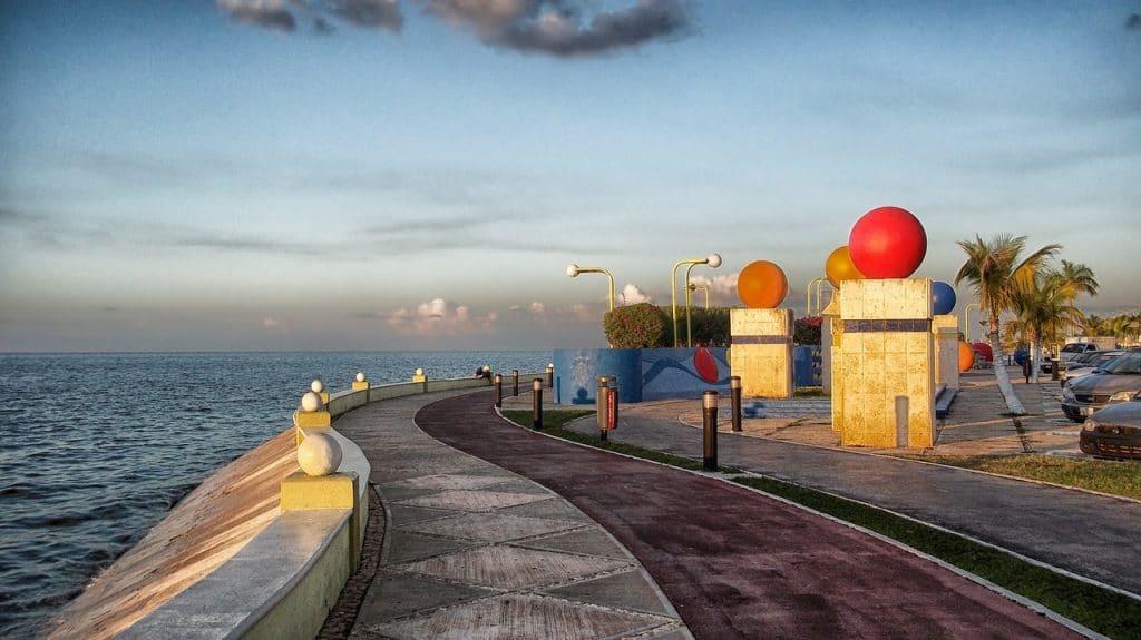 Malecón de Campeche Estado de Campeche península de Yucatán
